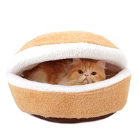 Free shipping Hamburger style cat house detachable warm pet house dog house