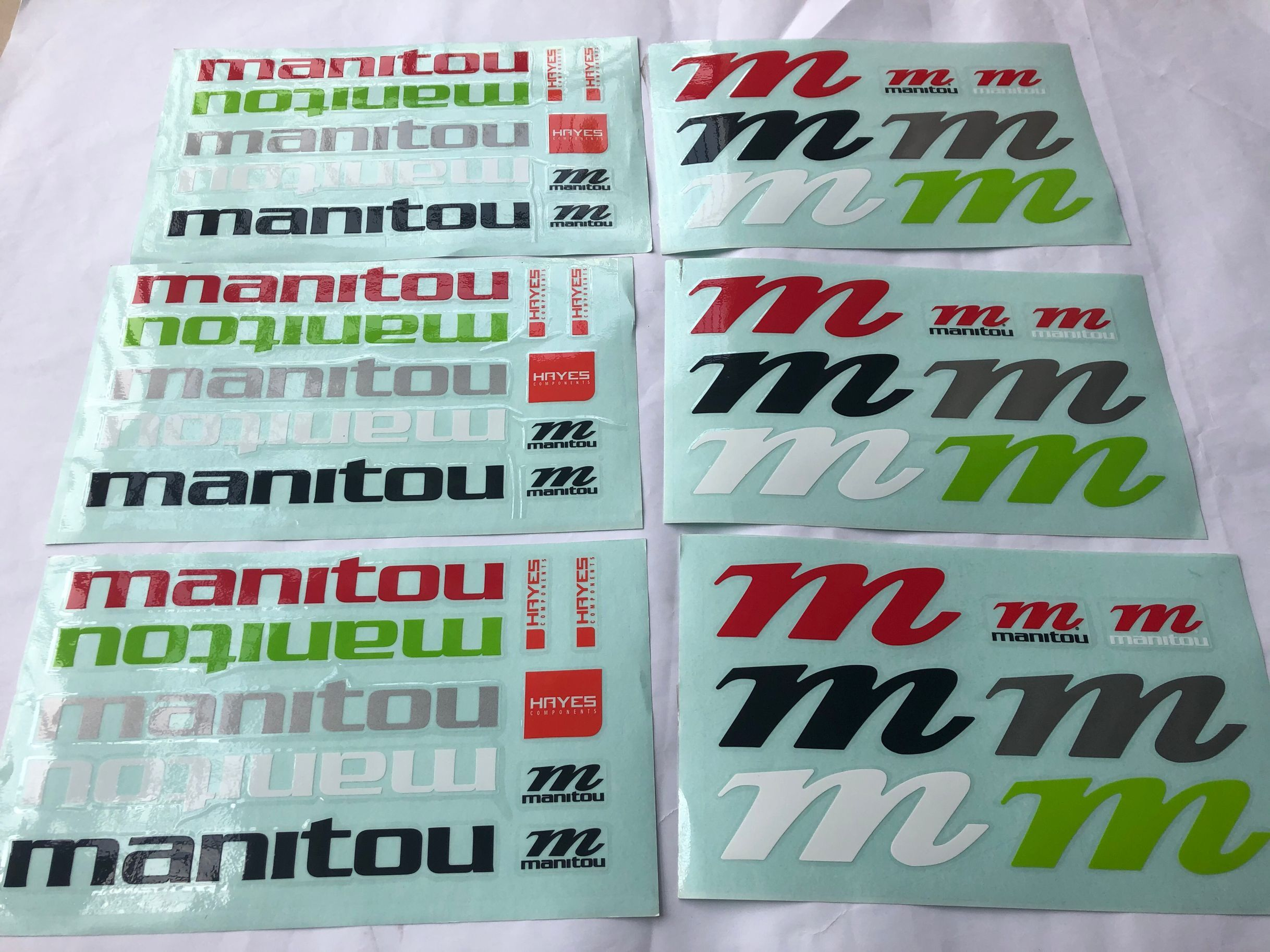 2020 manitou <font><b>mountain</b></font> <font><b>bike</b></font> fork stickers MTB latest front fork sticker decals image
