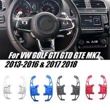 2 шт., Автомобильный Алюминиевый Рычаг переключения передач на рулевое колесо для VW GOLF GTI R GTD GTE MK7 7 POLO GTI Scirocco 2014-2019