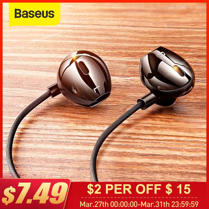 Baseus C06 Wired Earphone Type C Bass Stereo Earbuds with Mic Sport Headset 3.5mm Jack for iPhone Samsung In ear Earphone Wired|Phone Earphones & Headphones| |  - AliExpress