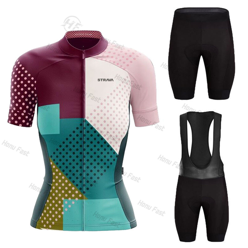 2021 Women STRAVA Summer Cycling Jersey Breathable MTB Bicycle Cycling Clothing Mountain Bike Wear Clothes Maillot Ropa Ciclismo
