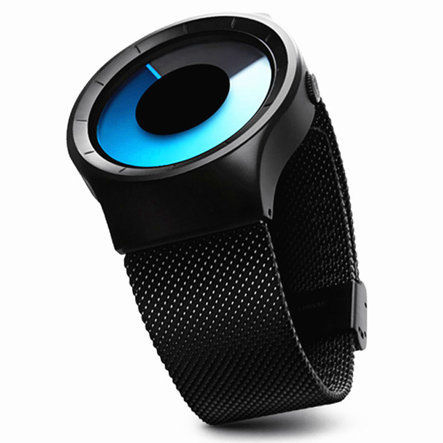Creative Quartz Watches Men Top Luxury Brand Casual Stainless steel Mesh Band Unisex Watch Clock Male female Gentleman gift 2