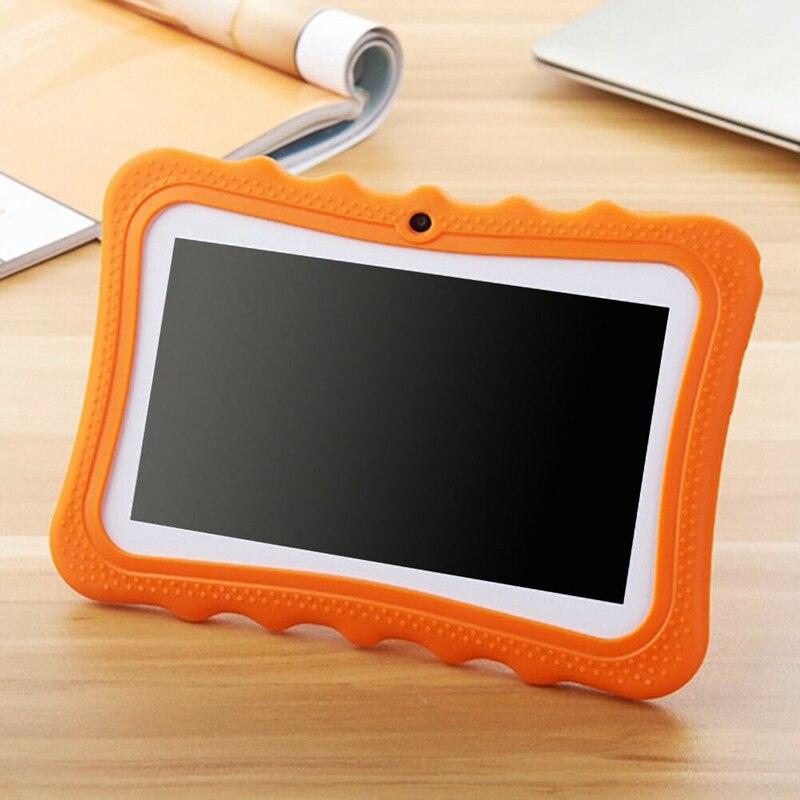 7 pulgadas niños Tablet cámara doble Android Wifi educación juego regalo para niños niñas, enchufe de la UE