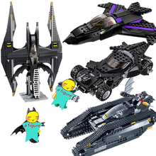 цены на Batman Chariot Super Heroes Black Panther Pursuit Superman Building Blocks Minifigures Marvel Model Toys Compatible Legoe  в интернет-магазинах