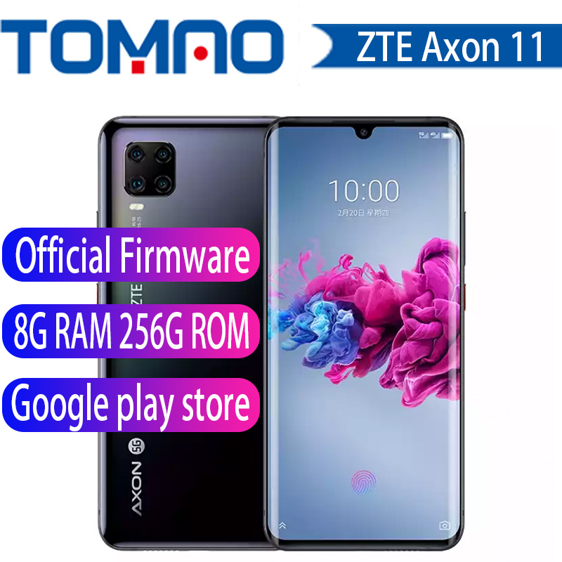 "ZTE Axon 11 5G smartphone Snapdragon 765G Android 10 6.47\"" Screen fingerprint 6GB/8GB/12GB RAM 128GB/256GB ROM NFC OTA Update"