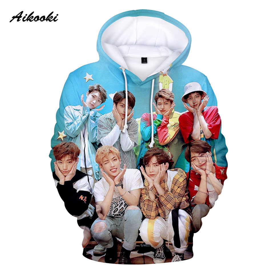 Kpop ATEEZ Hoodies Men Women Fashion Hooded Sweatshirts Star Trend ATEEZ Hoodies Harajuku Casual Pullovers Autumn Winter Hoodie