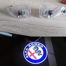 Alfa Romeo Car Courtesy Door Logo Welcome Light LED Puddle Laser Shadow Projector Lamp for 147 GT All Models