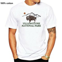 Yellowstone National Park - Bison 70s Retro Design Boy's Cotton Youth T-Shirt(2)