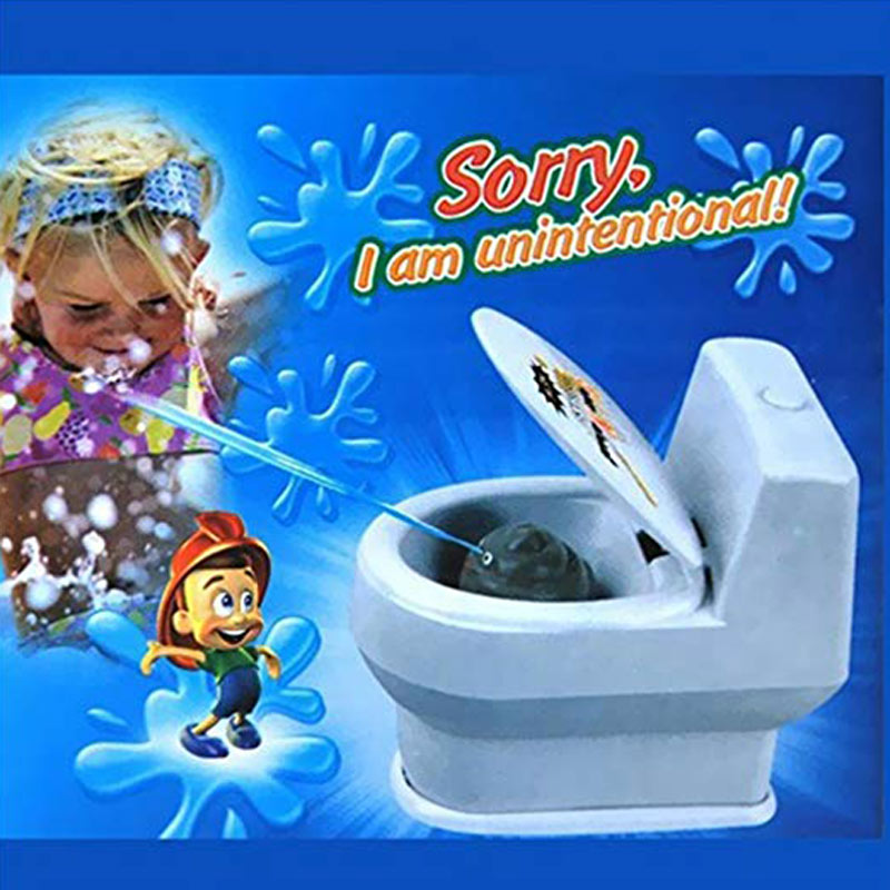 Funny Mini Squirting Toilet Prank Desk Toy Water Spray Toy For Xmas Gift High Quality