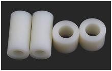 Coluna de isolamento, almofada de plástico, junta em linha reta do abs da luva de náilon da coluna, espaçador redondo do cargo do furo, peças m3m4m5 20