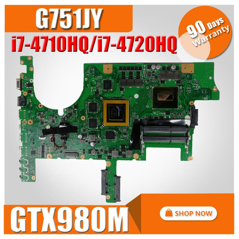G751JY материнская плата для ноутбука ASUS G751 G751J G751JY G751JT Материнская плата ноутбука I7-4710HQ I7-4720HQ GTX980M 4 Гб