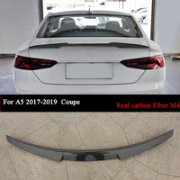 Auto Racing Rear Trunk Spoiler Wing Roof Lip For Audi A5 2017 2018 2019 Coupe Carbon Fiber