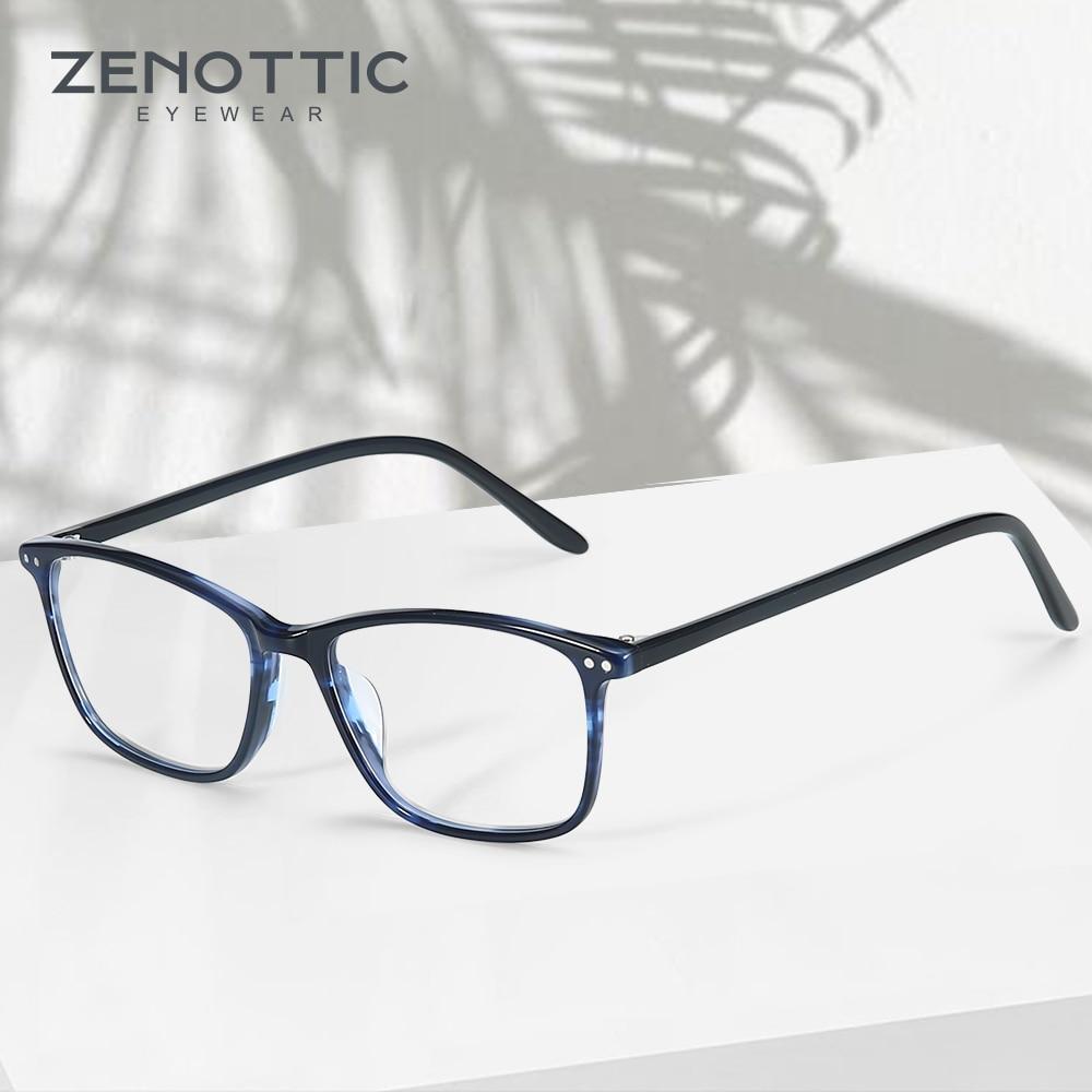 ZENOTTIC Acetate Women Glasses Frame Optical Spectacles Eyeglasses Fashion Design Myopia Glasses Eyewear BT3021Womens Eyewear Frames   -