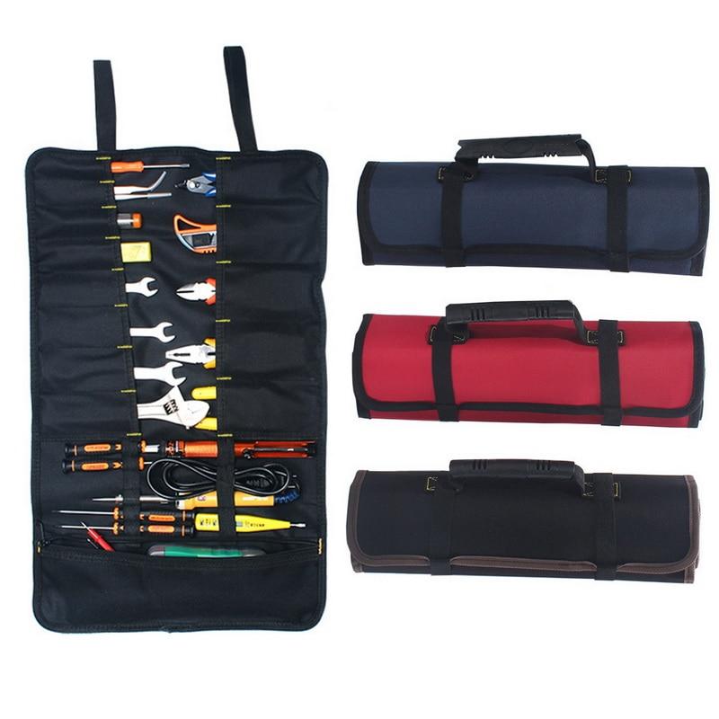 1PCs High Quality Oxford Cloth Car Repair Kit Bag Multi-purpose Screwdriver Plier Wrench Roll Repairing Tool Storage Bags
