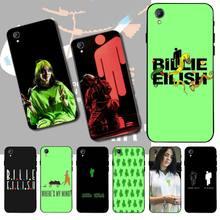 PENGHUWAN Билли Eilish логотип черный мягкая оболочка телефон чехол капа для Vivo Y17 Y91c Y51 Y67 Y55 Y93 Y81S Y19 Y7S