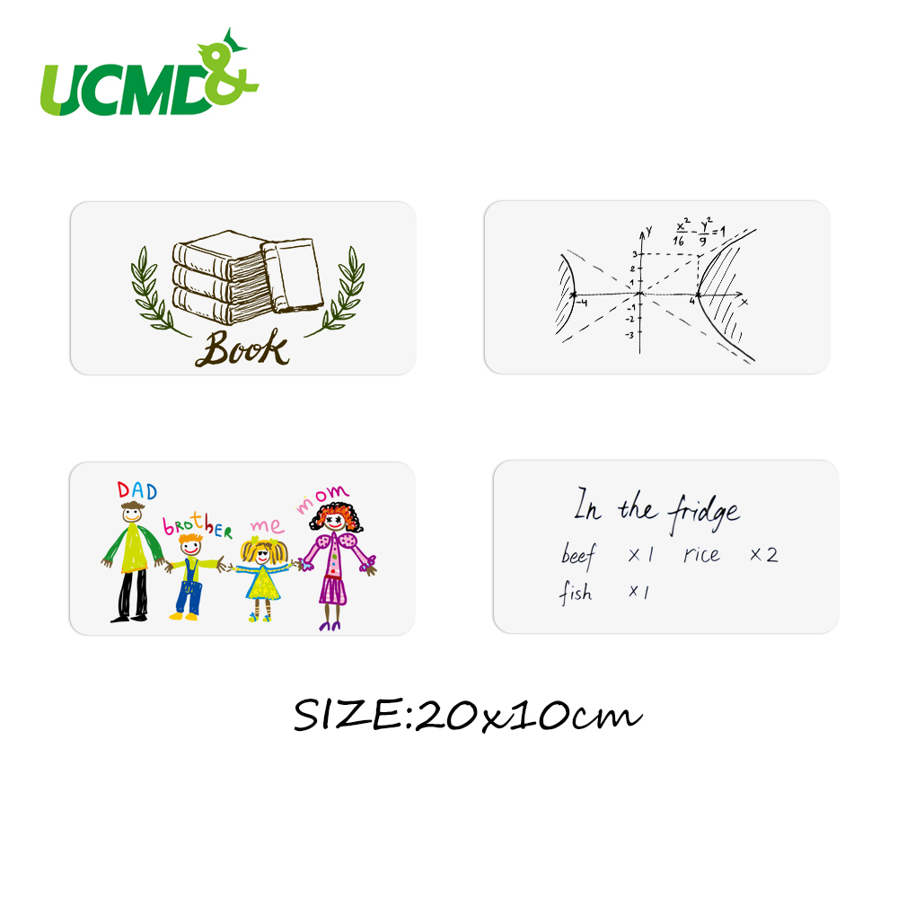 4pcs/lot Flexible Fridge Magnets Whiteboard Kids Reusable Drawing Writing Message Board Note Pad Refrigerator Magnetic Sticker