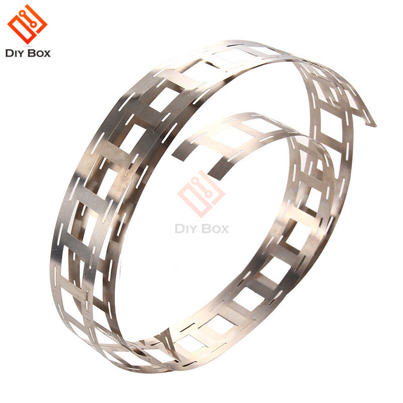 1 Meter Nickel Strip 18650 Lithium Battery Pack Making Nickel Strips Battery Connection Nickel Strip 0.15 * 27mm Punching