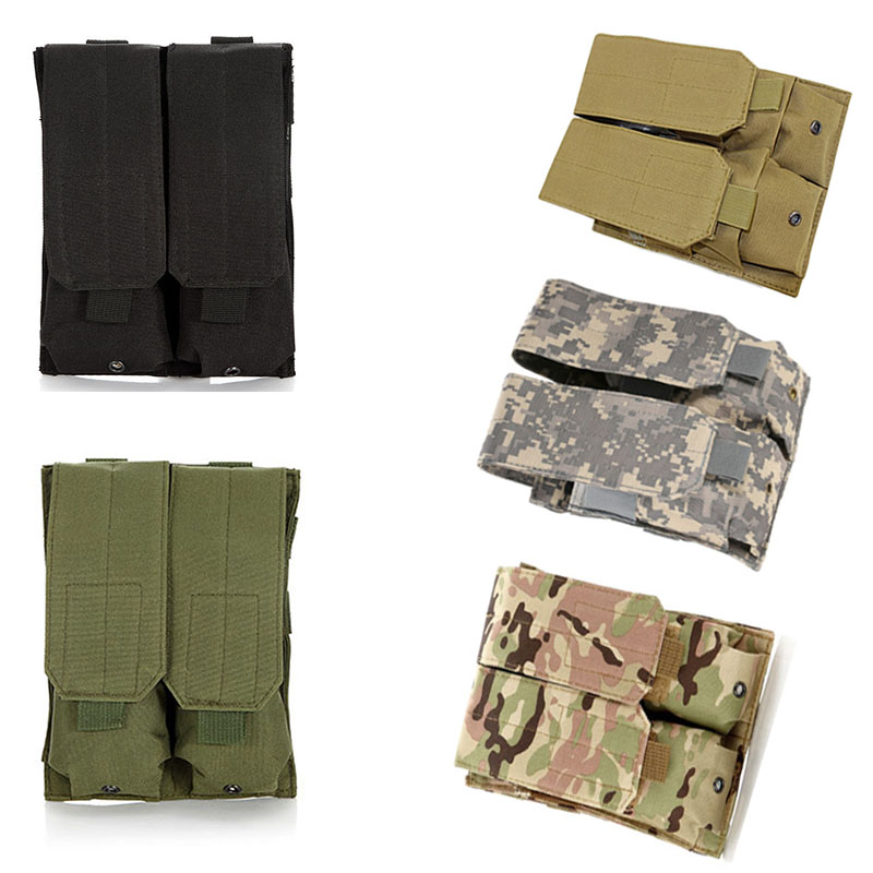 Military MOLLE Double Pistol Magazine Pouch Cartridge Clip For M4//M16 5.56 .223