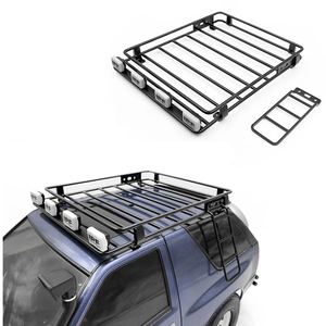 Радиоуправляемая модель кузова автомобиля, Полка на крышу с набором лестницы для 1/10 весы, гусеничный Рок-игрушечный грузовик, Тамия CC01 ISUZU MU ...