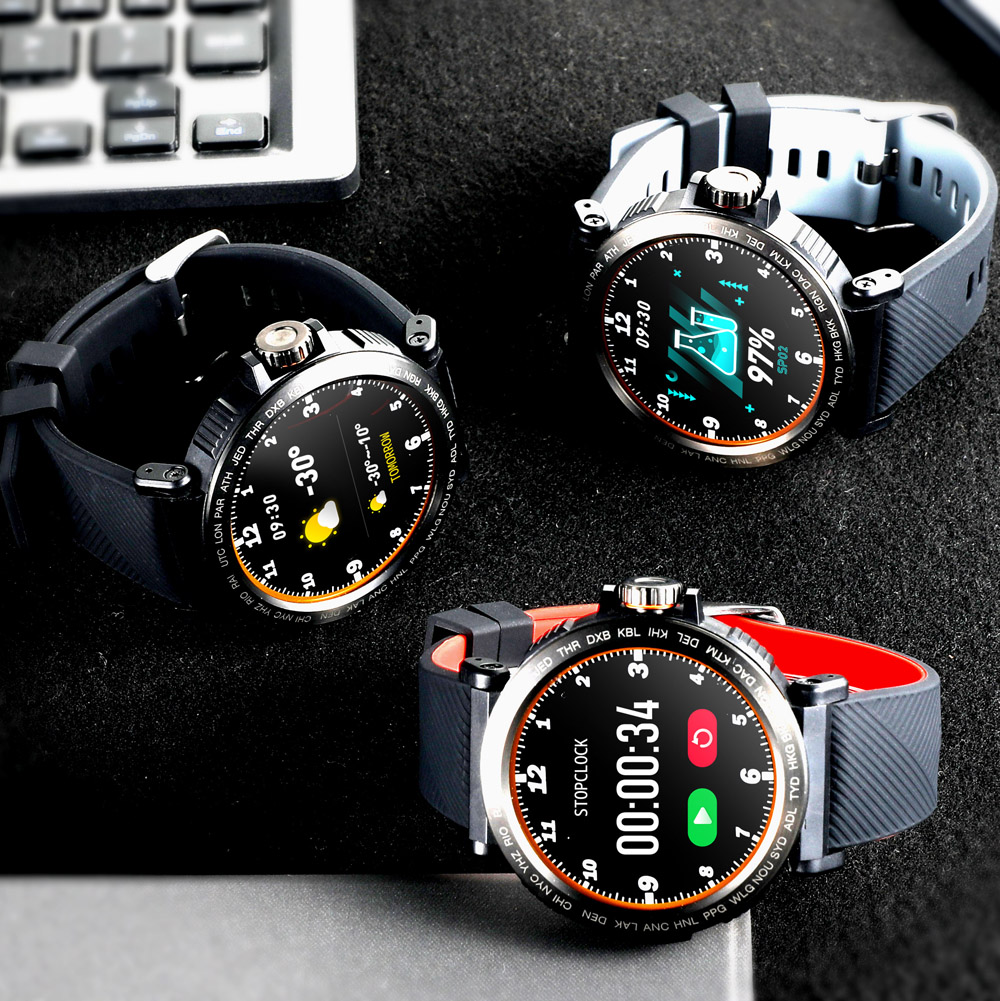 Image 3 - S18 Full Screen Touch Smart Watch IP68 waterproof Men Sports Clock Heart Rate Monitor  Smartwatch for IOS Android phoneSmart Watches   -