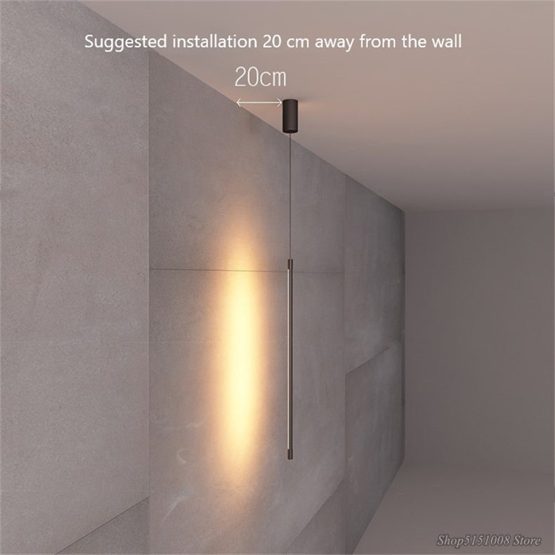 lâmpadas linha minimalista luzes dispositivo elétrico