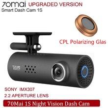 70mai مسجل فيديو رقمي للسيارة 1S ، كاميرا استقطاب CPL ، رؤية ليلية ، 1080 بكسل ، HD ، MSC 8336D ، WiFi ، 70mai