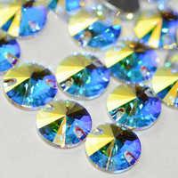 YANRUO Top 3200 Rivoli Cose en Los Rhinestones Cristal AB de Cristal Cristales Strass Piedras para la Ropa de Costura Artesanía Artes
