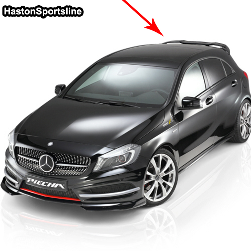 Image 5 - For Mercedes A Class A45 AMG W176 FRP Rear Roof Spoiler A180 A200 A220 A250 A260 rear roof Wing 2013 2017roof wingrear roof spoilerroof spoiler -