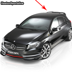Image 5 - For Mercedes A Class A45 AMG W176 FRP Rear Roof Spoiler A180 A200 A220 A250 A260 rear roof Wing 2013 2017