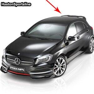 Image 5 - Mercedes A sınıfı için A45 AMG W176 FRP arka çatı spoileri A180 A200 A220 A250 A260 arka çatı kanat 2013 2017