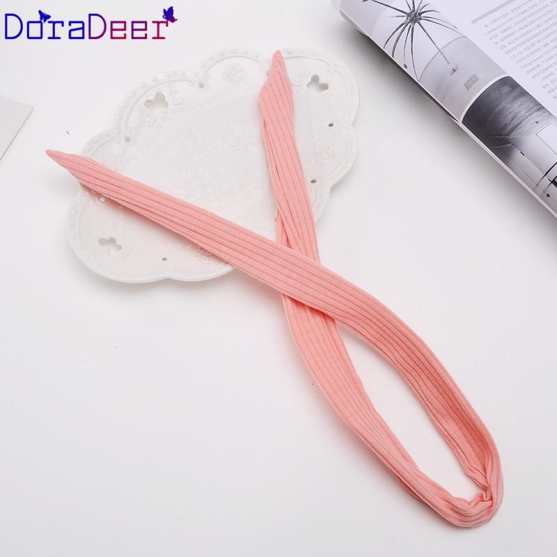 DoraDeer резинки для волос для девочек, аксессуары для волос, женские полосатые банданы для влюбленных, конский хвост, повязка для волос