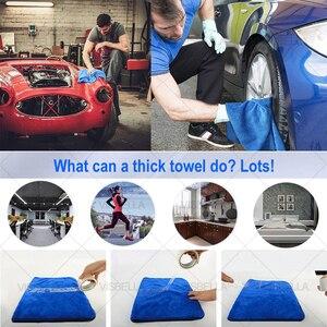Image 3 - Toalla de microfibra para el cuidado del coche, 40x50cm, toalla de lavado y secado de felpa, paño de limpieza de coche de poliéster de peluche grueso