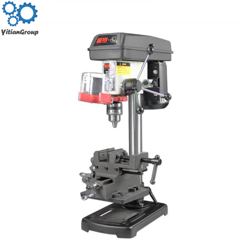 Mini Precision Multifunctional Bench Drill Working Table Turning Milling Machine Desktop Stand Clamp Drill Press 220V