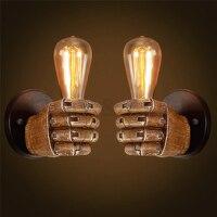 Aplique de pared Edison  lámpara de pared Retro  accesorios creativos con personalidad  lámpara de pared Industrial Vintage para Loft