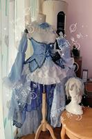 [Customized] Anime Re:Life in a different world from zero Rem Crystal Wedding Dress Cosplay Costume Halloween Free Shipping New