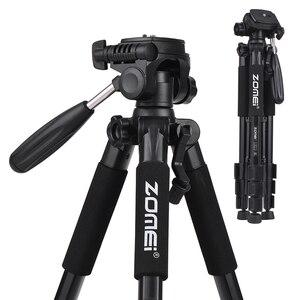 Image 5 - Cz在庫zomei Q100 Q111 Q555 Q666 Q666Cカメラ三脚旅行ポータブルカメラの三脚一眼レフカメラ三脚