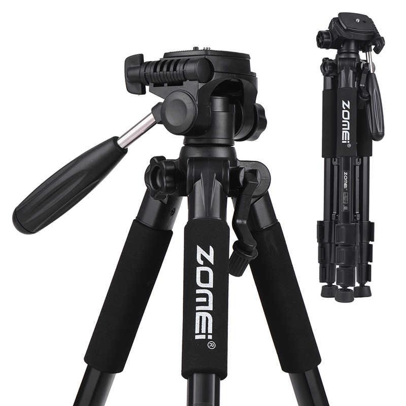 Штатив ZOMEI Q100 Q111 Q555 Q666 Q666C для путешествий, портативный штатив для камеры Canon, Nikon, sony, DSLR, профессиональный штатив для камеры