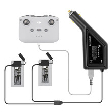 Outdoor Mavic Mini 2 Drone Dual Battery Car Charger with USB Port Charging Accessories for DJI Mini 2 Remote & Batteries