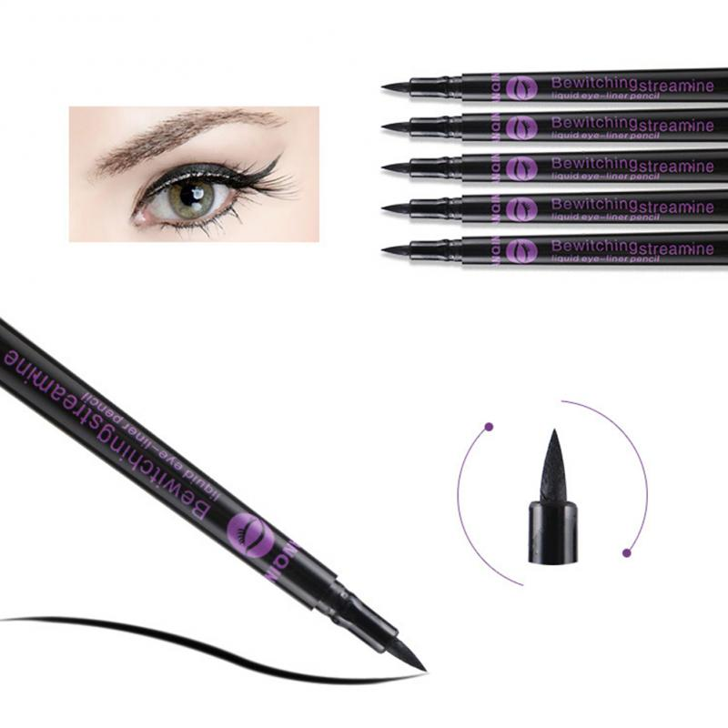 1PC Black Eyeliner Long-lasting Liquid Eye Liner Pencil Professional Waterproof Black Eyeliner Pen Beauty Eye Makeup Tool TSLM2
