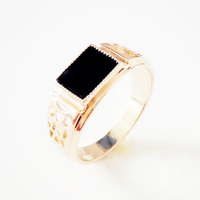 Мужское кольцо из розового золота 585 пробы, черный кубический цирконий, свадебные украшения, модные винтажные кольца золотого цвета для мужчин|Обручальные кольца| | АлиЭкспресс
