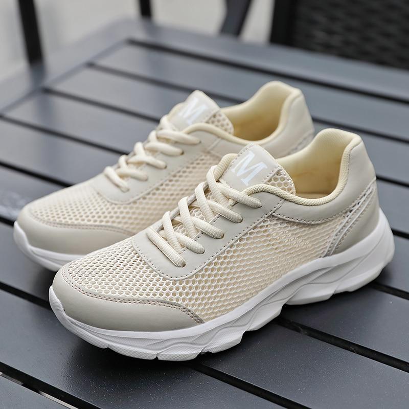 AARDIMI Women Sneakers Casual Shoes Summer Female Mesh Women's Trainer Air Flat Walking Shoes Zapatillas Deportivas Mujer