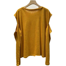 ONCE Women Hollow Out Long Sleeve T-shirt Off Sholder Solid Color Round Neck Casual Tops Thin Spring Sexy Woman Tees