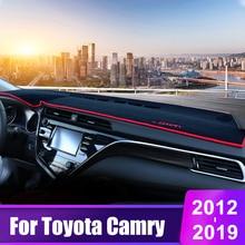 цена на For Toyota Camry 2012 2013 2014 2015 2016 2017 2018 2019 Car Dashboard Cover Mats Avoid Light Pad Sun Shade Desk Carpets