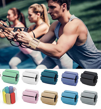 1pc Wrist Weight Bracelet Adjustable Silicone Wrist Ankle Strap Running Yoga Pilates Training Exercise Fitness Equipment 450g 6