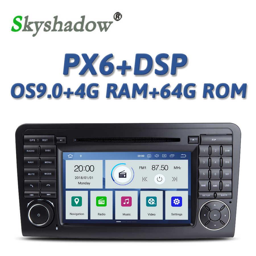 DSP PX6 Ips アンドロイド 9.0 4 ギガバイト + 64 ギガバイト車 Dvd プレーヤーラジオの Bluetooth メルセデス · ベンツ Ml W164 ML300 ML350 ML450 ML500 ML550 X164