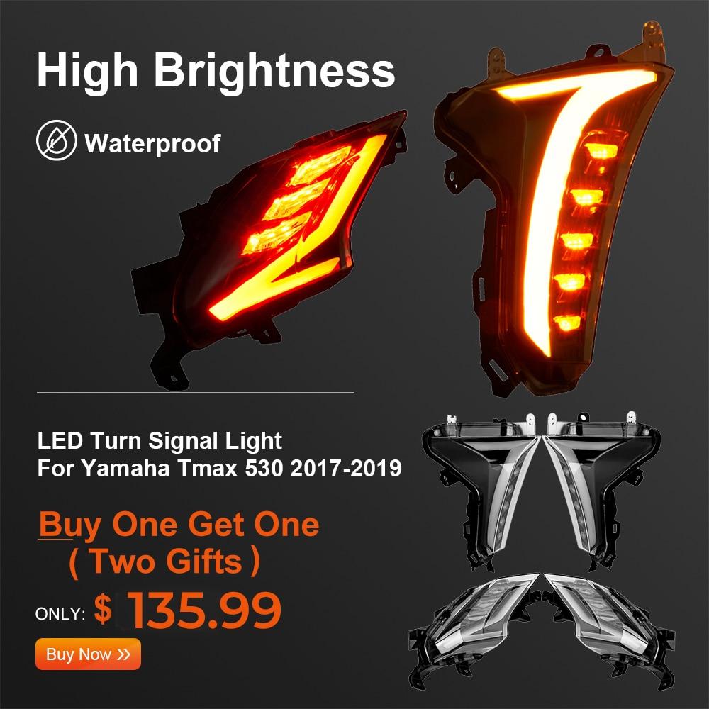 For TMAX 530 Light LED Turn Signal Indicators Front Rear Brake Light For Yamaha TMAX 2019 TMAX530 2017 2018 SX DX Models E-MARK