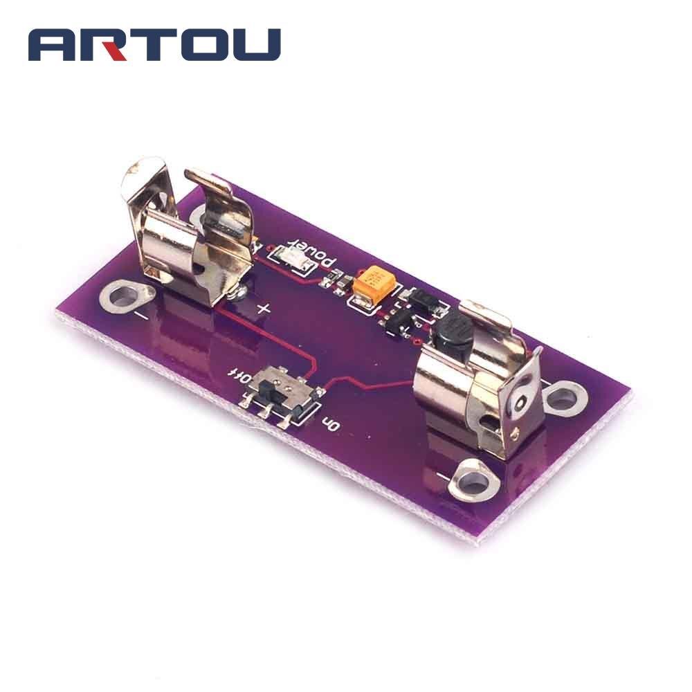 LilyPad Power Supply Modul AAA Batterie Step up to 5V Konverter Für Arduino C