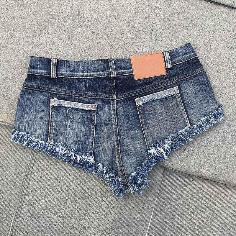 Neue Mode Heißer Verkauf Hohe Taille Sommer Gerade Hosen Frauen Jeans Denim Weibliche Shorts Quaste Sexy Strand Hosen Taste Blau