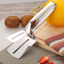 New Summer 2020 1Pcs Stainless Steel Food Clip Fried BBQ Tongs Salad Bread Clamp Kitchen Meat Kitchen Accessories Barbecue Tools barbecue clip bbq grill tongs shovel spatula bread meat fried food baking stainless steel ja55
