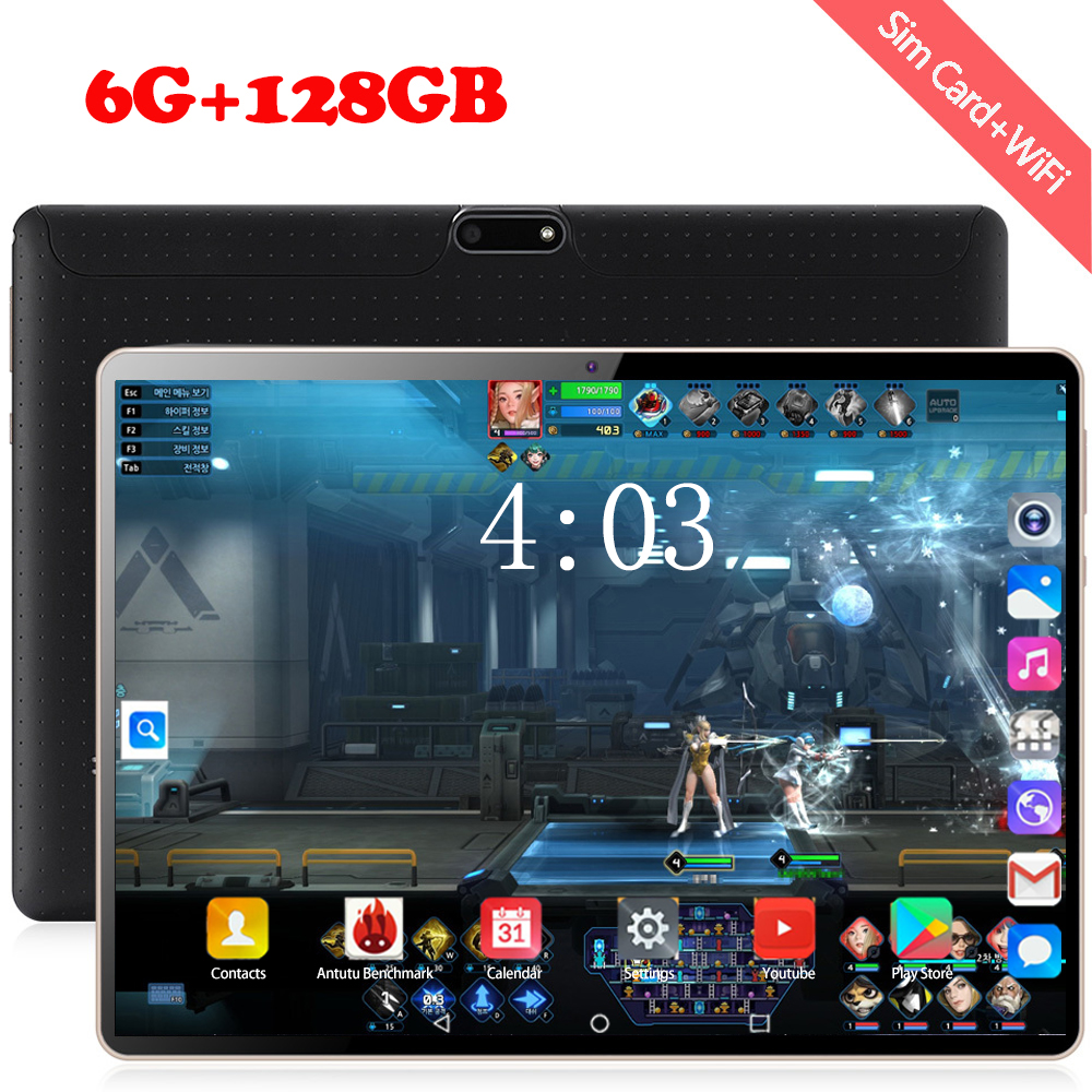 2020 Free Shipping 10.1 Inch Tablet Pc Android 8.0 Octa Core 6GB+128GB 8MP Camera 1280*800 IPS Dual SIM Card WIFI GPS Tablets 10